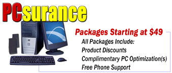 PCsurance maintenance packages